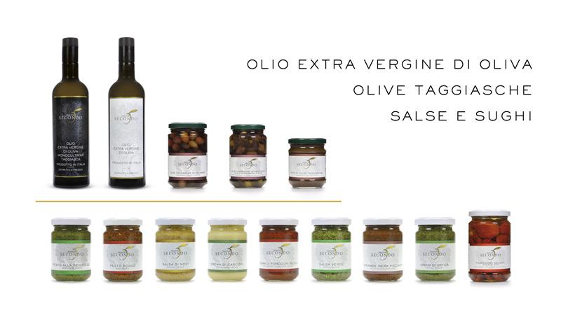 Frantoio Secondo, i nostri prodotti: olio extra vergine di oliva cultivar taggiasca, olio extra vergine di oliva italiano, olive taggiasche, salse e sughi